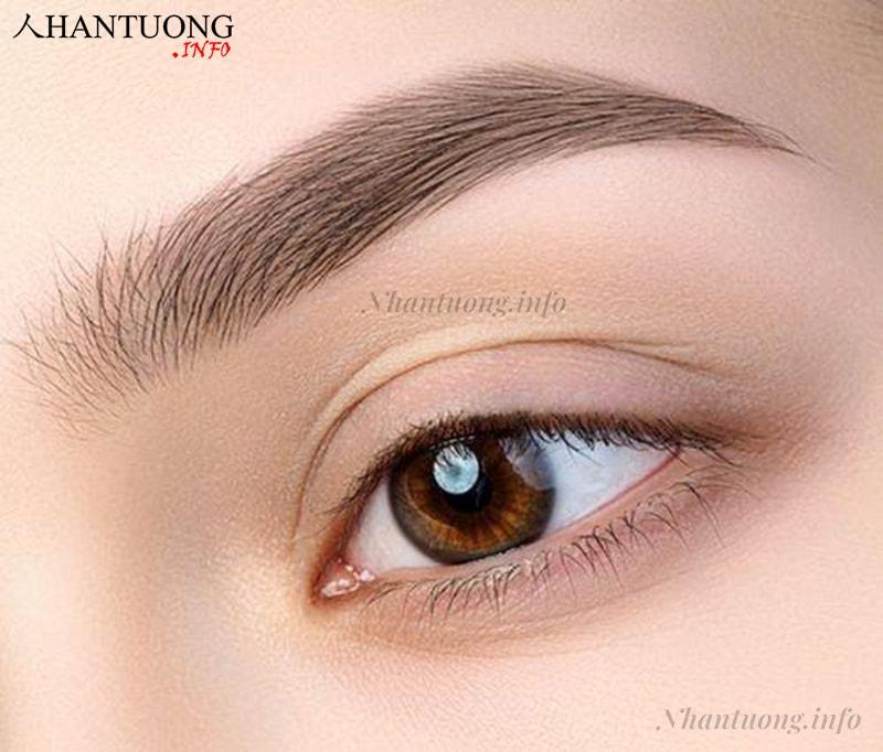Lông mày dài quá mắt